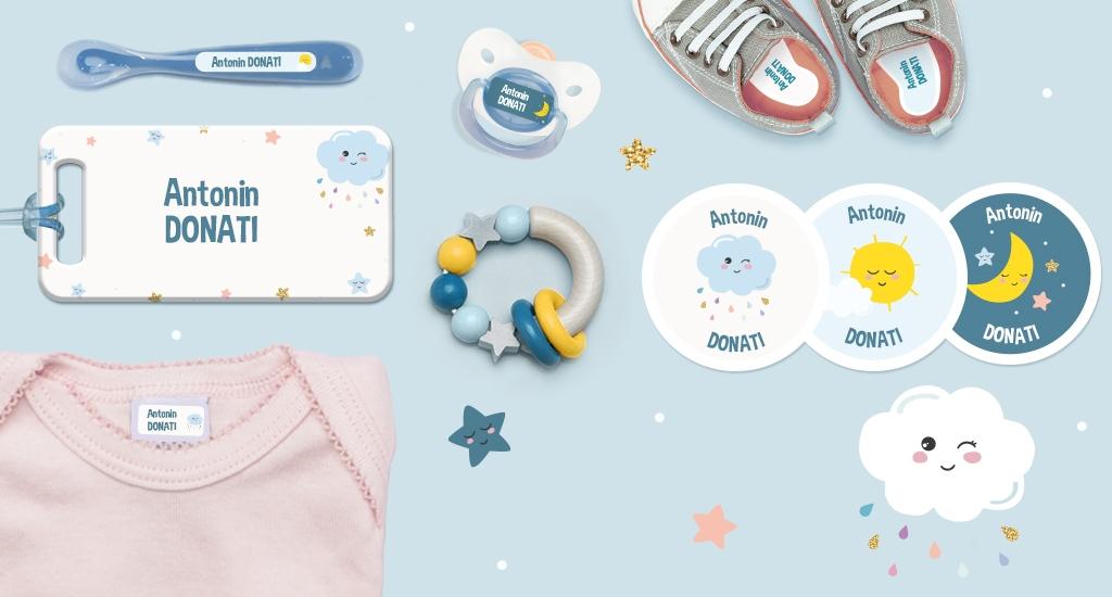 Etiquetas personalizadas para bebé