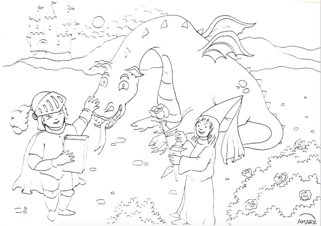 Dibuix/Dibujo Lluis Amaré Sant Jordi 2020